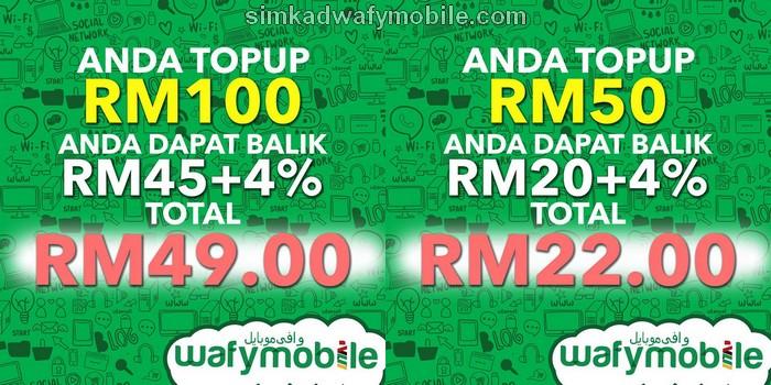 Rebat Dan Cash Back Simkad Wafy Mobile