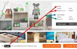 Beli barang online dengan kos shipping murah di EzBuy
