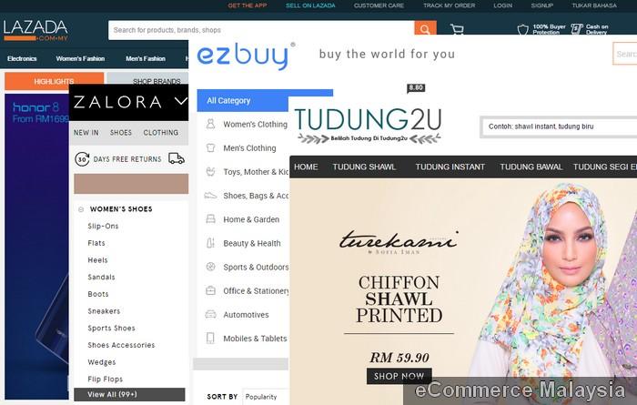 List senarai eCommerce website Malaysia terkini dan terbaik