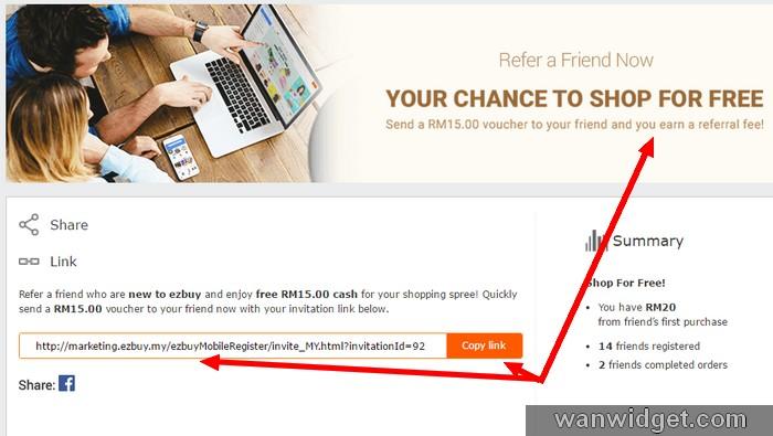 Link referral program dapat duit percuma ezbuy