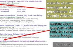 Teknik ranking web store eCommerce dengan Adwords