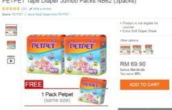 beli pampers murah berkualiti jenama petpet di internet