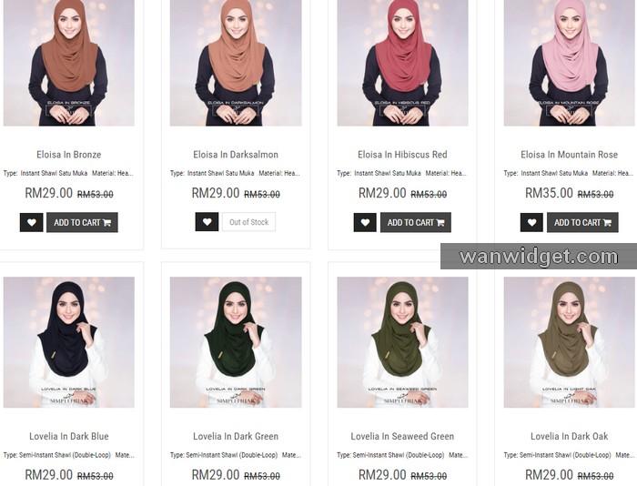 tudung shawl online murah dari SimpleHijab