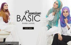 tudung shawl online murah premium dari Tudung2u