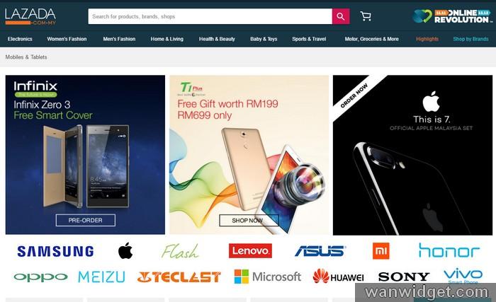 Beli barang diskaun tinggi di Lazada Online Revolution 2016
