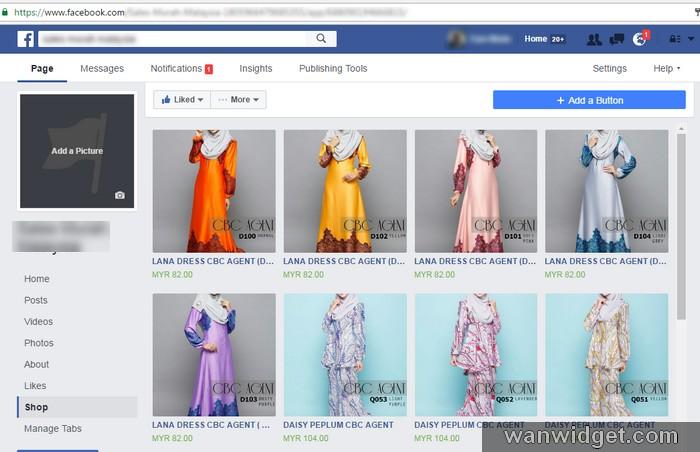 Bina kedai online di Facebook mudah melalui web shopping cart Easystore