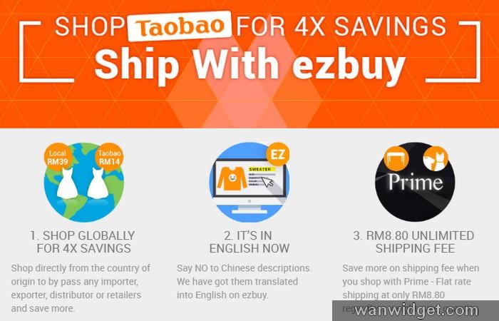 Borong barang murah dari China melalui EzBuy