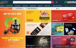 Contoh laman web e dagang Malaysia dari Lazada