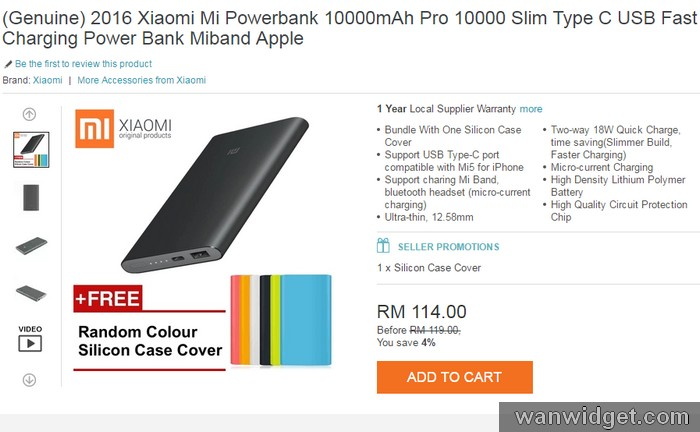 Dapatkan Xiaomi Mi Power Bank Pro di internet