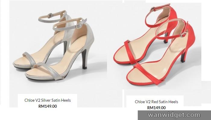 Fesyen terkini kasut raya wanita dari Christy Ng