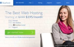 Promosi web hosting luar negara dari Bluehost