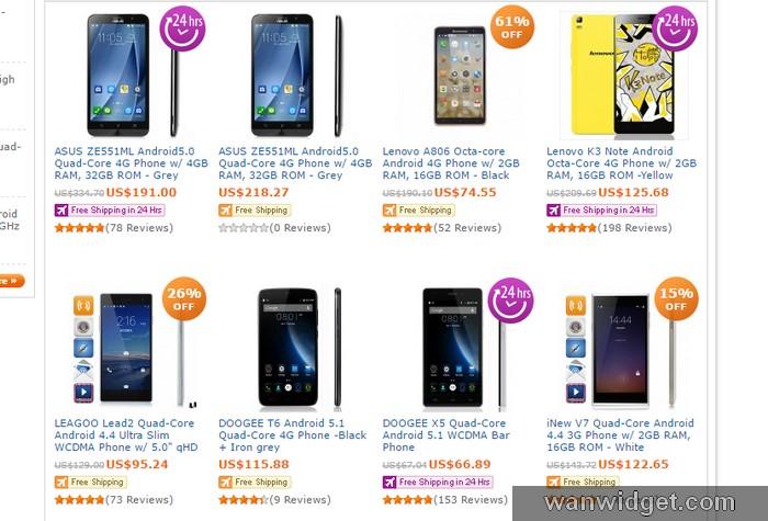 beli smartphone murah jenama China di internet