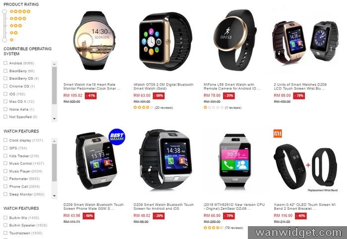 Beli jam tangan pintar smartwatch android di Lazada