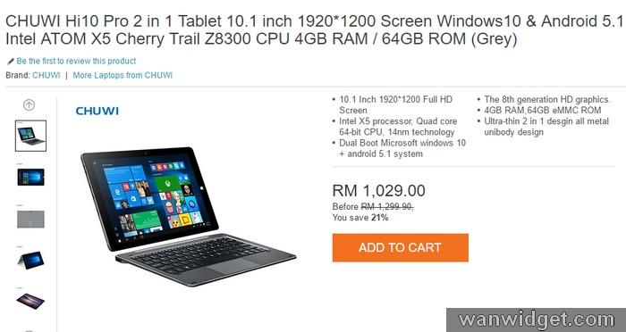 Contoh laptop jenama China spesifikasi tinggi berharga murah