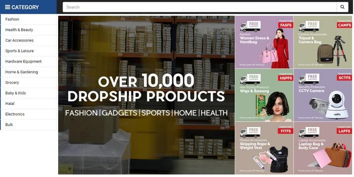 Laman website eCommerce dropship terbesar di Malaysia