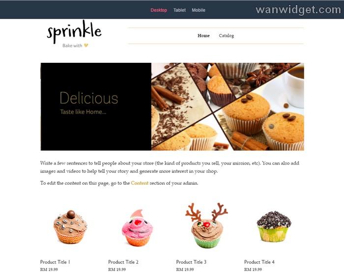 Theme bina shopping cart dengan eCommerce Easystore