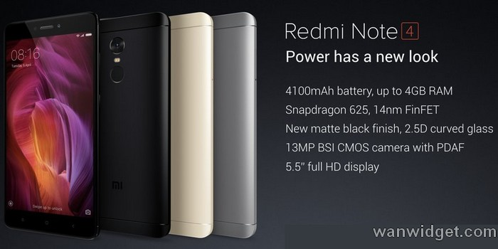 Warna Xiaomi Redmi Note 4