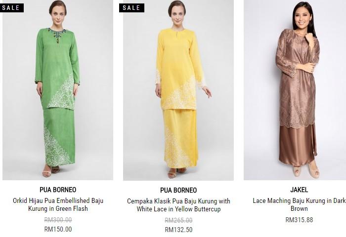 Baju kurung moden dari FashionValet