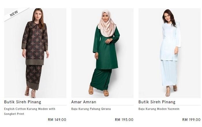 Baju kurung moden terkini dari Zalora Malaysia