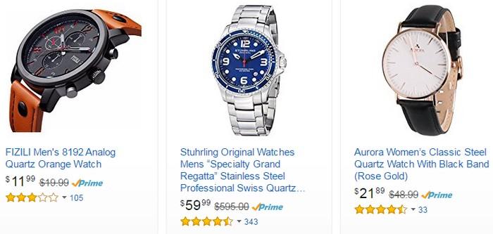 Beli jam tangan berkualiti di Amazon