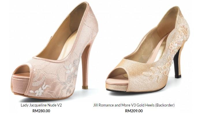 Beli kasut kahwin wanita yang berkualiti dan murah secara online