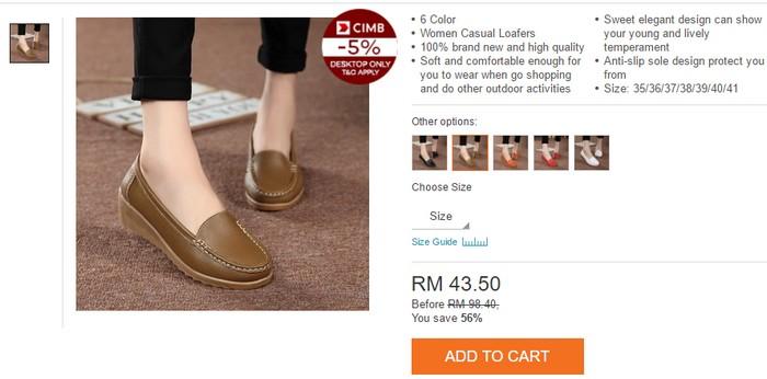 Beli kasut kerja wanita yang selesa dan murah