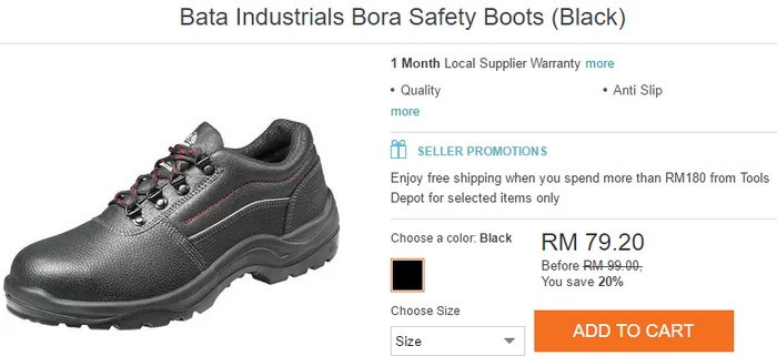 Beli kasut keselamatan yang murah secara online