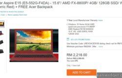 Beli laptop murah jenama Acer yang boleh main games
