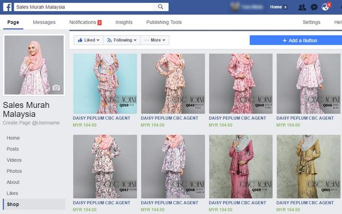 Contoh sebenar bagaimana mengimport produk dari kedai online kepada Facebook dan membina Facebook shopping cart dengan mudah
