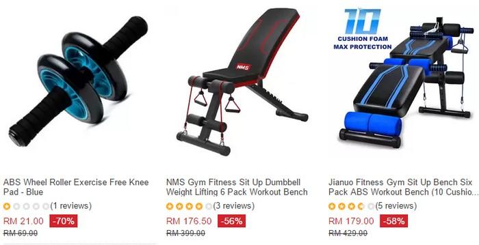 Dapatkan barang peralatan gym khas rumah di Lazada Malaysia