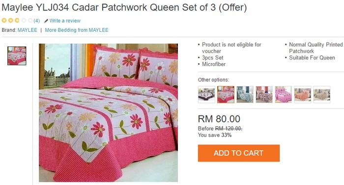 Dapatkan cadar patchwork murah cantik berkualiti di internet