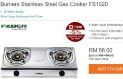 Dapur memasak murah gas yang bagus tahan lama dari jenama Faber