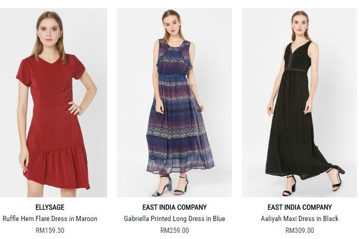 Dress kasual wanita moden dan trendy