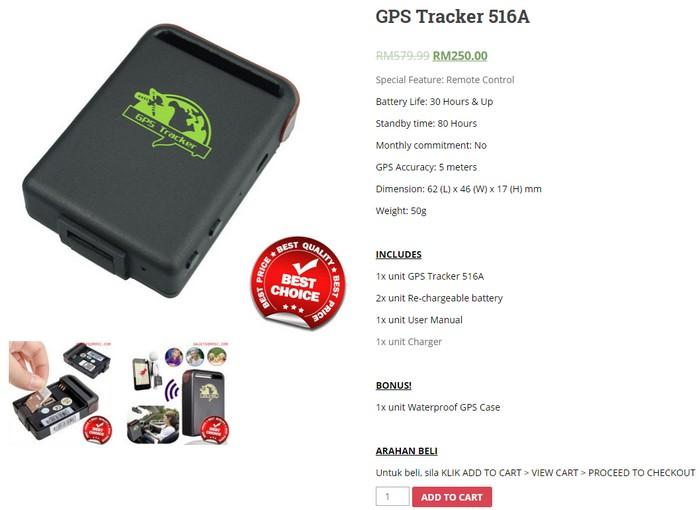 Gps tracker kereta portable mudah alih