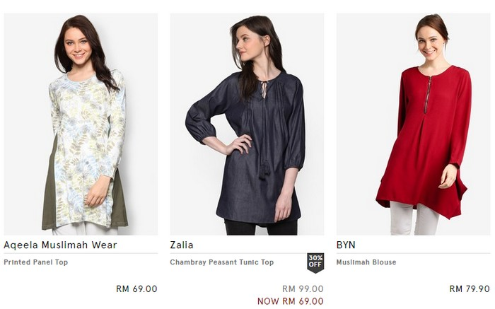 Jenama pakaian muslimah dari Zalora Malaysia
