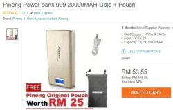 Jenama power bank murah dari Pineng untuk masuk poket
