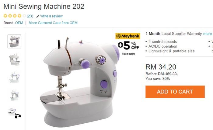 Orang Malaysia ramai yang berpuas hati beli mesin jahit elektrik yang murah ini