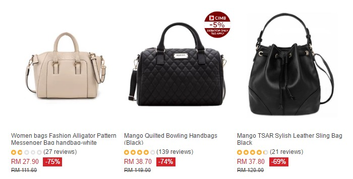 Promosi handbag murah perempuan di Lazada Malaysia
