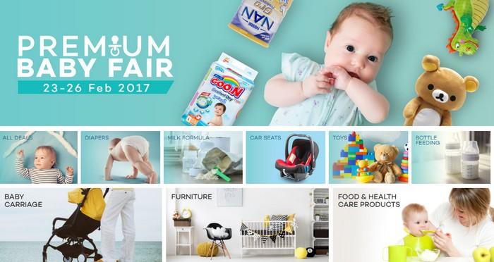 Website eCommerce merchant yang menjalankan promosi baby fair Malaysia online