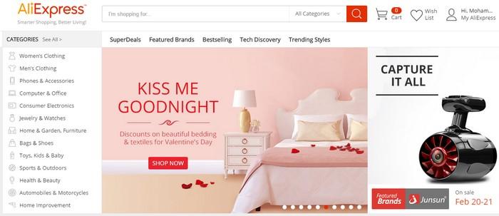 beli barang china dari web eCommerce popular Aliexpress