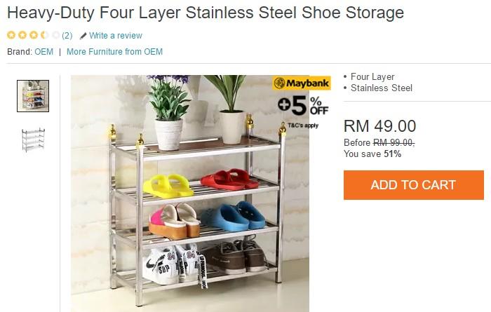 beli rak kasut besi yang murah