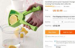 Alat pemerah jus buah buahan manual yang murah di Aliexpress
