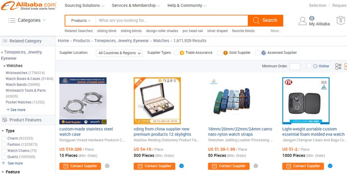 Alibaba Top 1 very popular China eCommerce websites