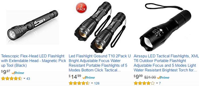 Anda boleh dapatkan flashlight murah yang berkualiti di Amazon