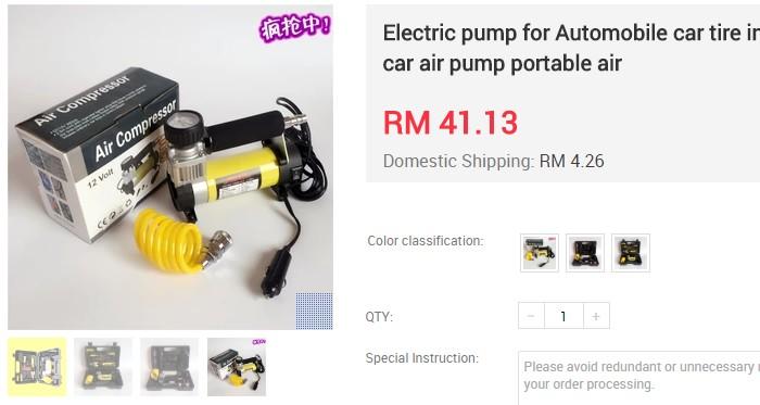 Anda mahu dapatkan portable pam angin tayar yang murah sila beli di Ezbuy Malaysia