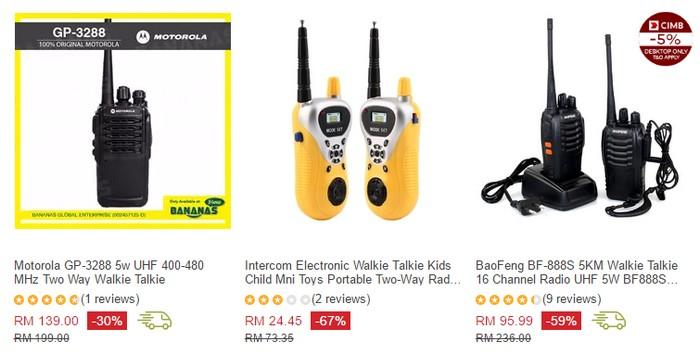 Baofeng dan juga Motorola adalah 2 jenama walkie talkie yang terbaik