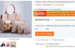 Bayangkan anda boleh beli beg tangan wanita semurah USD10 sahaj dengan borong china online