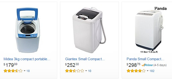 Beli automatic washing machine di internet di website ecommerce Amazon