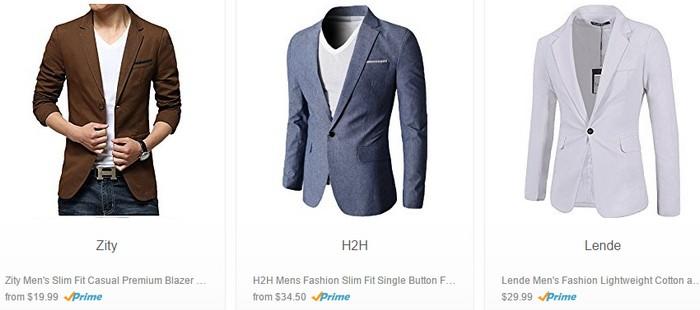 Beli baju blazer bergaya lelaki secara online di Amazon