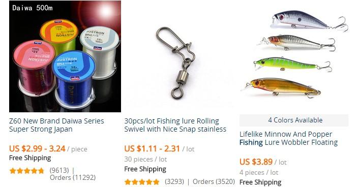 Beli barang pancing terlalu murah di kedai pancing online eCommerce China
